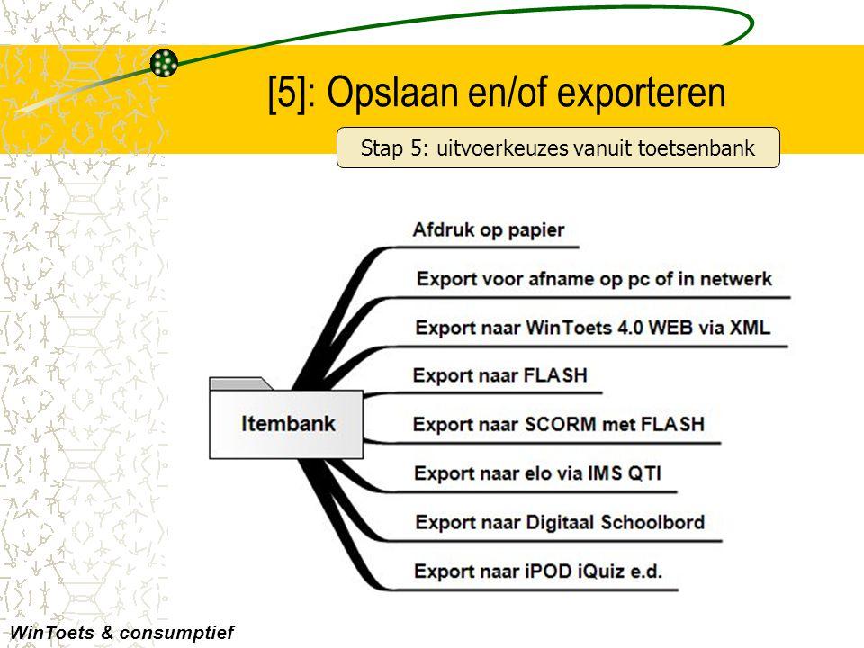 [5]: Opslaan en/of exporteren